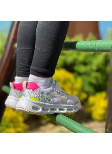 Kids A More Bianca Tek Cırtlı Air File Detaylı Deri Işıklı n Kız Çocuk Sneaker  Beyaz